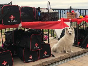Echo celebrating the launch of Pet Evac Pak, evacuation kits for pets